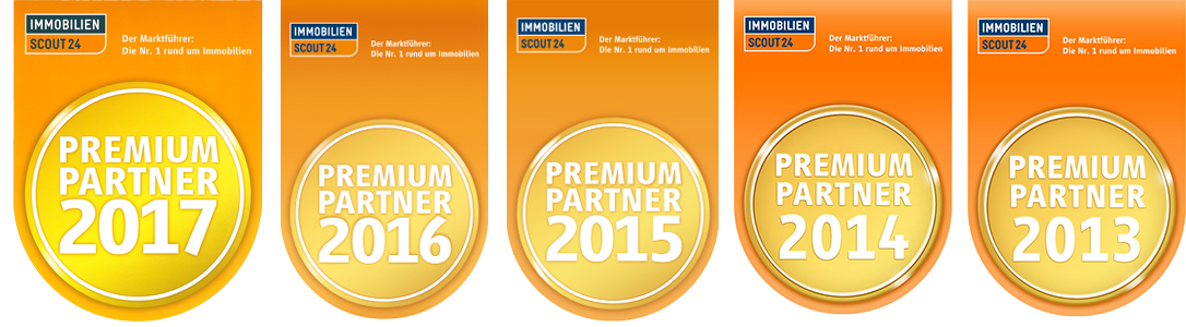 Premium Partner Label von Immoscout24